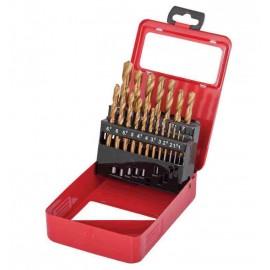 Свредла за метал Ø 1-10 мм комплект 19 броя HSS+TIN RAIDER