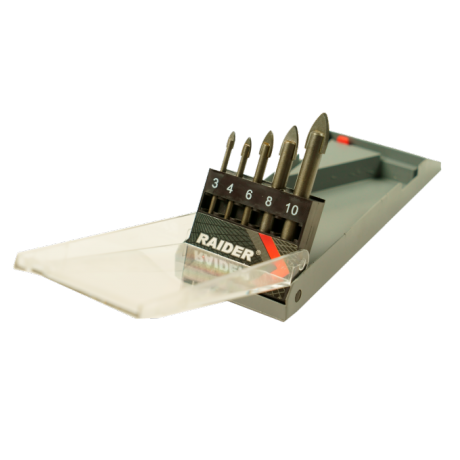 Свредла за стъкло Ø 3-10 мм комплект 5 броя RAIDER