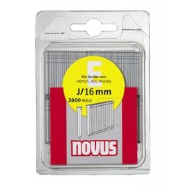 Гвоздеи за такер 16х1.2 мм, 2600 бр., Тип Е, J/16 Novus