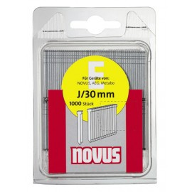Гвоздеи за такер за дърво 30х1.2 мм, 1000 бр., Тип Е, J/30 Novus