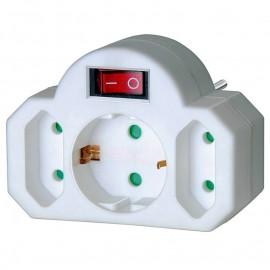 Разклонител без кабел с щепсел и ключ, 3-контакта, 16А, 250V Hugo Brennenstuhl GmbH 1508100