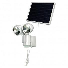 Прожектор светодиоден със сензор 8х0.5 W LED, 130°-8 м, Solar LED-Spot SOL 2x4 Hugo Brennenstuhl GmbH