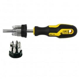 Комплект магнитна ръкохватка и накрайници SB/PH/PZ/TX, 13 броя Narex Bystrice 8801