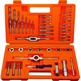 Метчици, свредла и плашки с върток HSS-G М 3-12 мм, к-т 40бр. 91009 Projahn