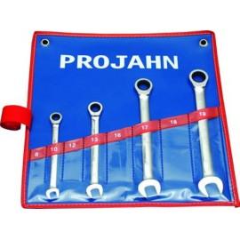 Ключ звездогаечен с тресчотка 10-19 мм комплект, 4 броя Projahn