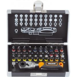 Комплект накрайници с тресчотка PH/PZ/TX/SB/RB, 33 броя Projahn