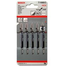 Нож за зеге за дърво HCS 2.0х58 мм, 5 броя, T 119 ВО Bosch