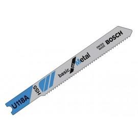 Нож за зеге за метал HSS 1.1-1.5х55 мм, U 118 A Bosch