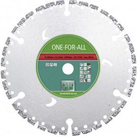 Диск диамантен Ø 230х22.23 мм за сухо рязане на бетон, стоманобетон, гранит, метал, пластмаса и дърво HELLER
