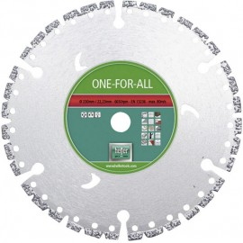 Диск диамантен Ø 125х22.23 мм за сухо рязане на бетон, стоманобетон, гранит, метал, пластмаса и дърво HELLER