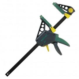 Стяга дърводелска 150/100 мм с пластмасови челюсти автоматична, 3030000 Wolfcraft