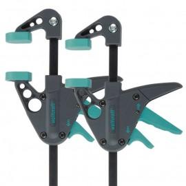 Стяга дърводелска 110/40 мм с пластмасови челюсти автоматична, 2 броя, 3455100 Wolfcraft