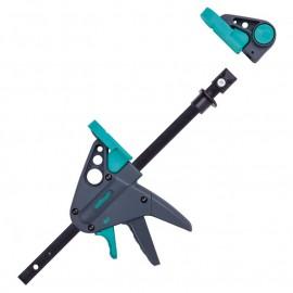 Стяга дърводелска 120/65 мм с пластмасови челюсти автоматична, 3036000 Wolfcraft