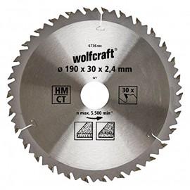 Диск циркулярен за дърво Ø 190х30х2.4, z30, 6736000 Wolfcraft