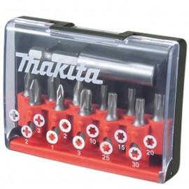 Makita , Накрайник бит комплект PH/PZ/TX с магнитен държач 12 бр.