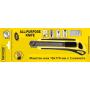 Нож макетен 18х170 мм с 3 ножчета Topmaster 370108