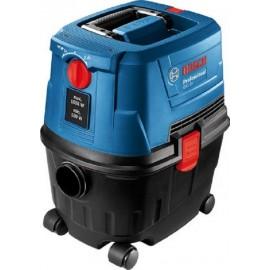 Bosch GAS 15 PS, Прахосмукачка електрическа за сухо и мокро почистване 1100 W, 1980 л/мин, 10 л