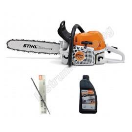 Трион верижен бензинов Stihl MS 391 /3400 W, 4.5 к.с., 64,10 см3, 45 см/